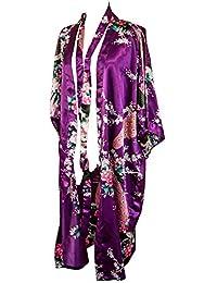CCcollections Kimono Robe Long 16 Colors Premium Peacock Bridesmaid Bridal Shower Womens Gift