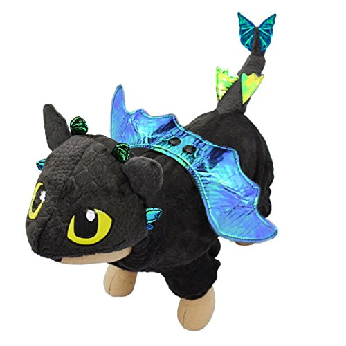 (UHeng Funny Pet Dog Cat Halloween Clothes Apparel Fly Dragon Cosplay)
