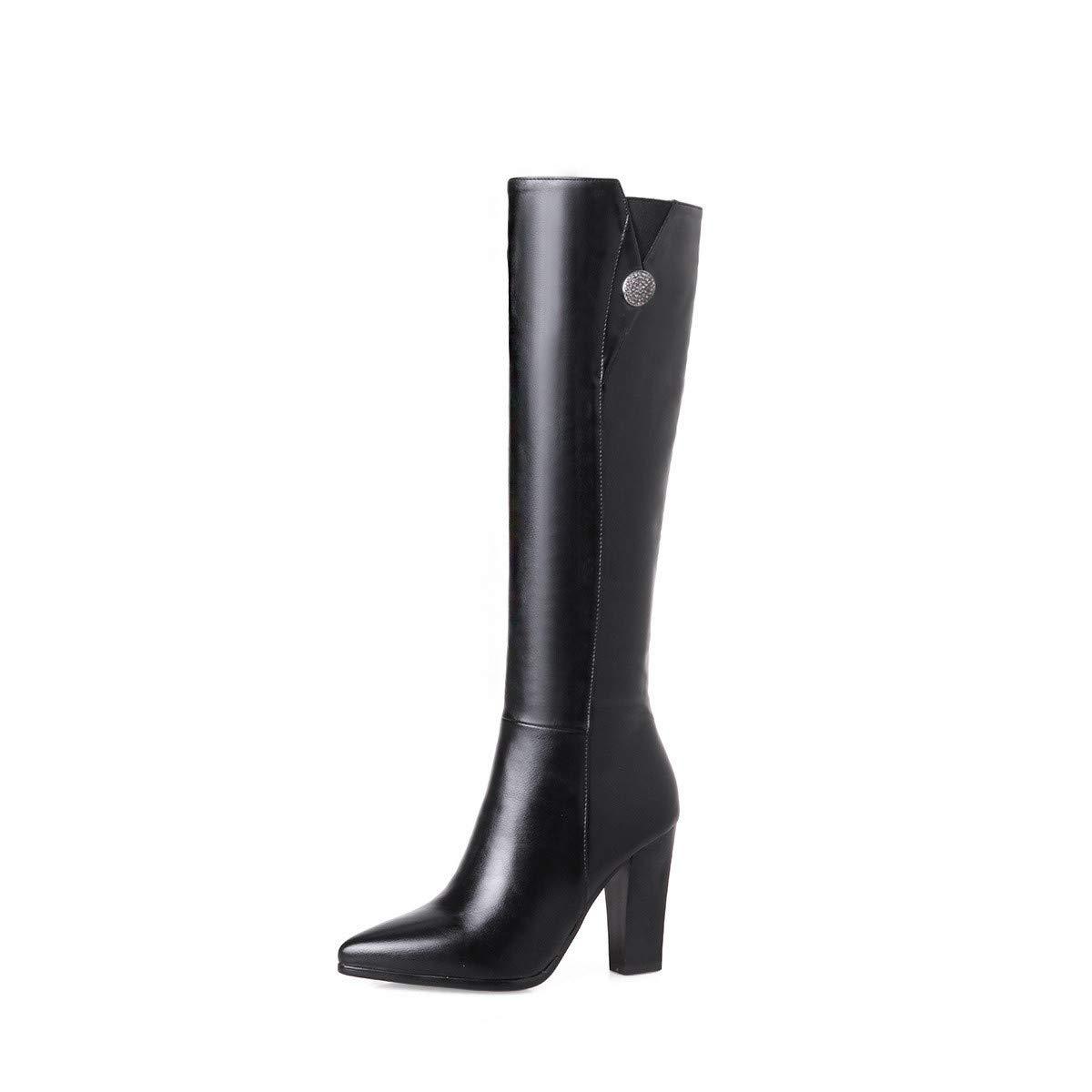 Stiefel-DEDE Stiefel  Übergroße Stiefel    Damenstiefel aus Europa und den Vereinigten Staaten Stiefel mit hohen Absätzen an den Knien 72a4fc