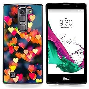 Eason Shop / Premium SLIM PC / Aliminium Casa Carcasa Funda Case Bandera Cover - Noche Amarilla City Heart Amor - For LG G4c Curve H522Y ( G4 MINI , NOT FOR LG G4 )
