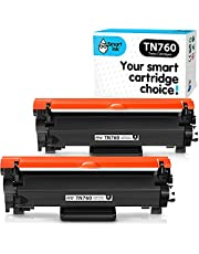 Smart Ink Compatible Toner cartridge Replacement For Brother TN760 TN730 TN-760 TN-730 (WITH CHIP, 2 Combo Pack) to use with HL-L2350DW MFC-L2710DW DCP-L2550DW HL-L2370DW MFC-L2750DW HL-L2370DW MFC-L2750DW HL-L2390DW MFC-L2730DW HL-L2395DW