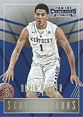2015-16 Panini Contenders Draft Picks - Kentucky Wildcats - School Colors - Devin Booker- Phoenix Suns NBA Basketball Rookie Card - RC Card #15