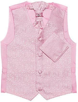 Paisley of London, Niño rosa chaleco, corbata & pañuelo set ...