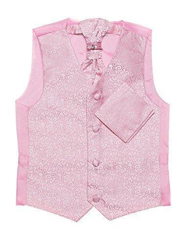 Paisley of London, Niño rosa chaleco, corbata & pañuelo set, remolino chalecos, 3m - 14 años