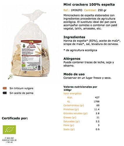 La Finestra Sul Cielo Mini Crackers de Espelta - 250 gr: Amazon.es: Alimentación y bebidas