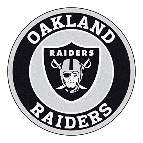 Mat Raiders Oakland Door (Fanmats 17970 NFL Oakland Raiders Roundel Mat)