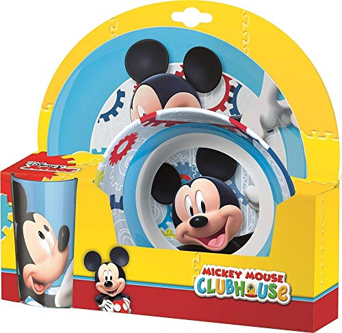 BBS Ultimate Mickey Mouse - Crockery Set, 3 Pieces, Multicolour ()