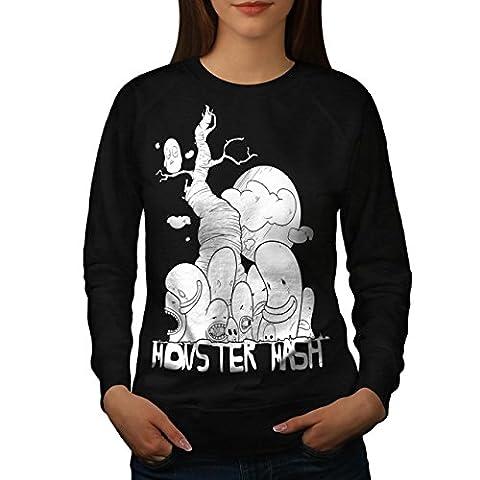 Cute Monster Mash Comic Smiley Women NEW S Sweatshirt   Wellcoda (The Monster Mash Pixie)