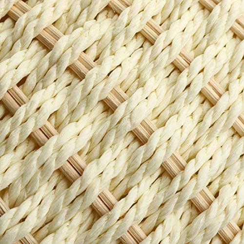 HT bag straw tela Blanco Bolso mujer de para BB87wArq