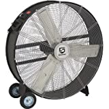 Strongway Open Motor Direct-Drive Drum Fan - 36in., 1/3 HP, 11,200 CFM