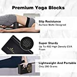 DDFE Yoga Blocks 2 Pack with Strap Set - High