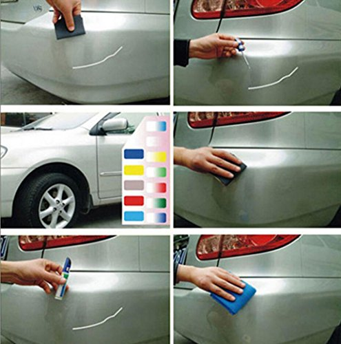 Colors Auto Car Coat Paint Pen Touch Up Scratch Clear Repair Remover Remove Tool Car Scratch Remover Fix By Makaor (As picture, Titanium - Scratches Clear Remove Plastic