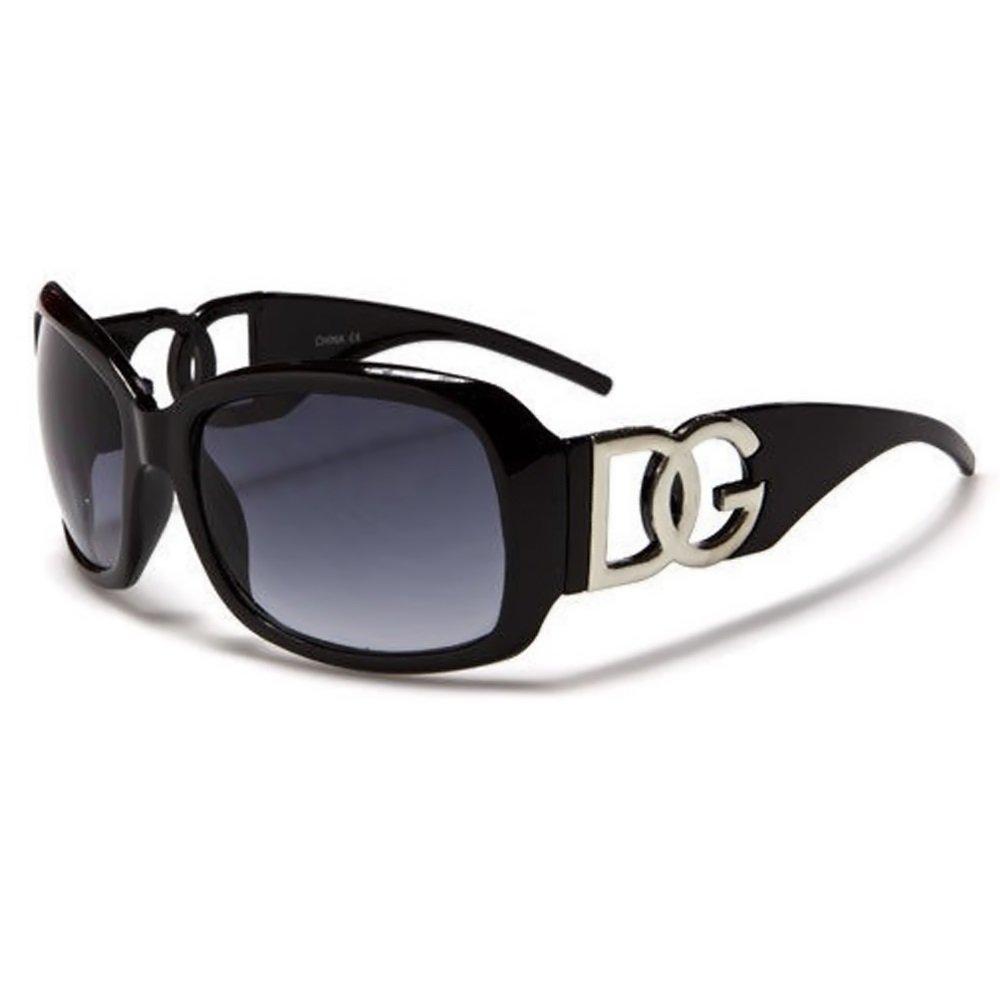 DG Eyewear à Lunettes de Soleil Femme Noir - Saison 2017 - La Mode et UV400  Protection (UVA   UVB) - Nouvelle 2017 Collection (Modele  DG Classique)   ... b0cf617a00ef