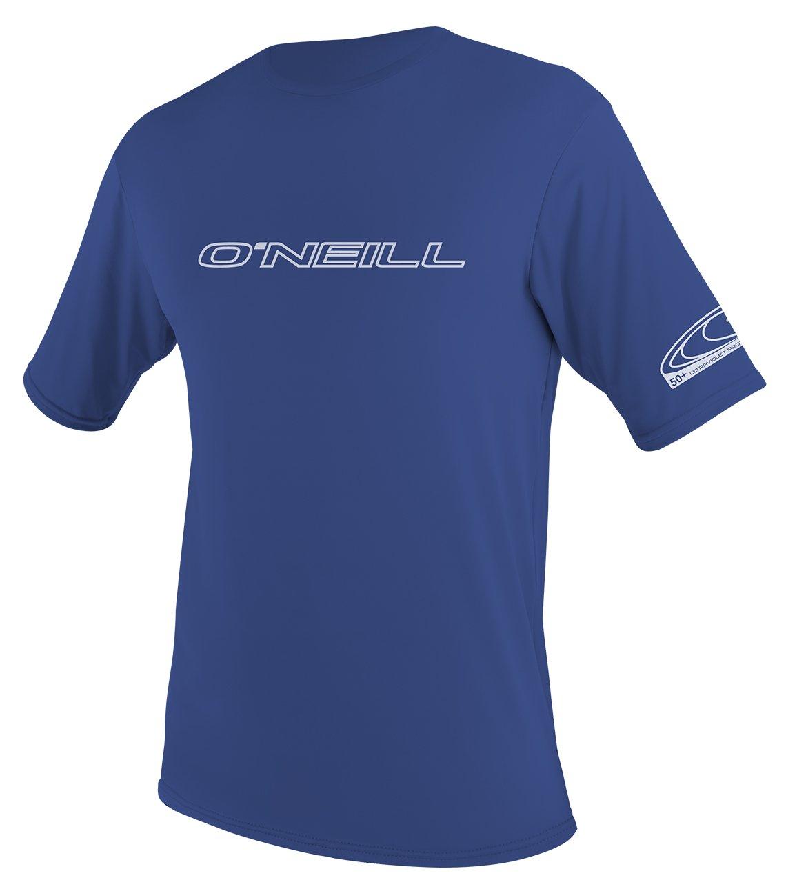O'Neill   Men's Basic Skins UPF 50+ Short Sleeve Sun Shirt,Pacific,Small