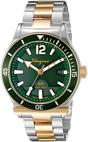 Salvatore Ferragamo Men s FF3270015 Ferragamo 1898 Sport Analog Display Swiss Quartz Two Tone Watch