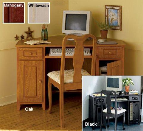 UPC 719822041923, Antique White Corner Desk