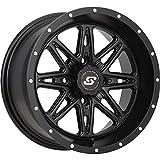 used 14 inch atv rims - Sedona Badlands Wheel - 14x7 - 5+2 Offset - 4/115 , Bolt Pattern: 4/115, Rim Offset: 5+2, Wheel Rim Size: 14x7, Position: Front/Rear A7847015-52S