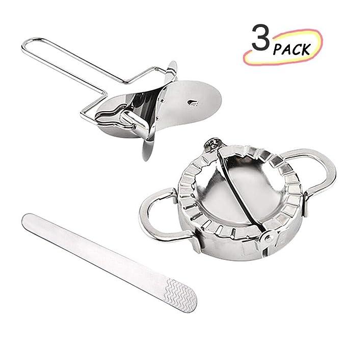 Molde Para Empanadillas,Molde de bola de masa de acero inoxidable, Manual Pinch Dumpling Pie Ravioli molde Pastelería fabricante de la herramienta, ...