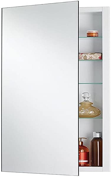 Jensen 1035P34WHGX Polished Edge Mirror Medicine Cabinet