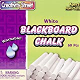 Creativity Street 1760 Blackboard Chalk Bucket, 60 Pack, White