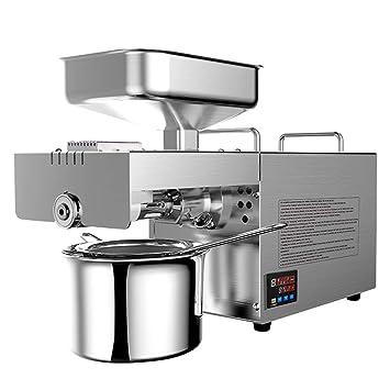 IDABAY Prensa de Aceite Eléctrica de Acero Inoxidable 600W Automática, Control de Temperatura Inteligente en Caliente y Frío Funciona