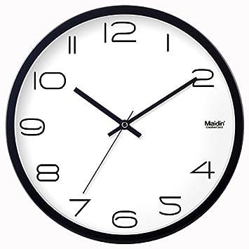 Silenciar relojes reloj de pared resistente a la humedad salón dormitorio moderno minimalista moderno ideas de
