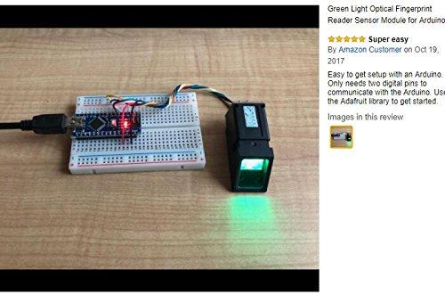 Green Light Optical Fingerprint Reader Sensor Module: Amazon