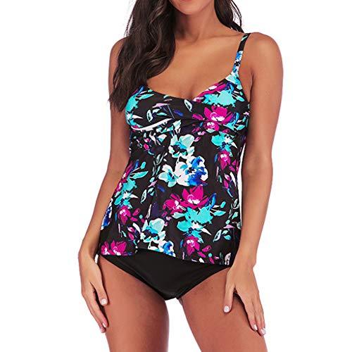 f17e00a906420 Women's Tankini Swimsuits Cross-Back Two Piece Bathing Suits Tribal Swimwear ,MmNote(Black