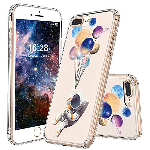 - MOSNOVO iPhone 8 Plus Case, iPhone 7 Plus Clear Case, Astronaut Planet Pattern Printed Clear Design Transparent Plastic Back Case with TPU Bumper Protective Case Cover for iPhone 7 Plus/iPhone 8 Plus