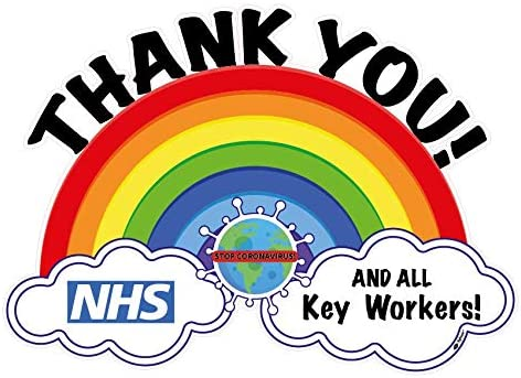 Influent UK Thank you NHS and key workers sticker Flag Window/Wall ...