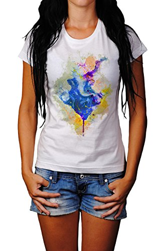 Ganesha I Damen T- Shirt , Stylisch aus Paul Sinus Aquarell Color