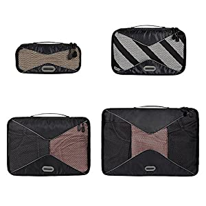 ORICSSON 4 Pieces Travel Packing Cubes Set Black