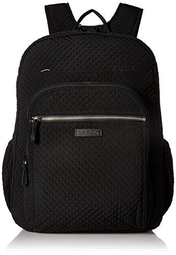 Vera Bradley Iconic XL Campus Backpack, Microfiber, classic black