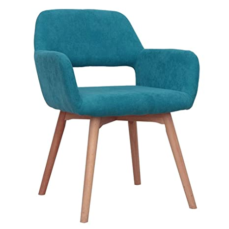 Outstanding Modern Design Fabric Accent Chair Dining Chair W Solid Wood Leg Living Room Blue Set Of 1 Pabps2019 Chair Design Images Pabps2019Com