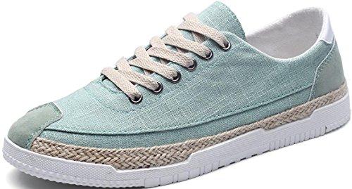 Satuki Canvas Schoenen Voor Heren, Skate Schoenen, Casual Klassieke Lace Up Zachte, Atletische Lichtgewicht Mode Sneakers Groen