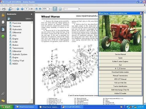 Hydrostatic Transmission Tractor - Wheel Horse Vintage Tractor Transmission Repair Service Manual N Hydrostatic