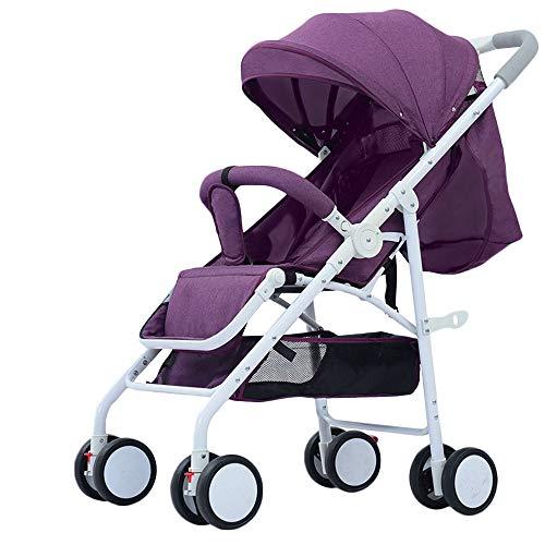 WYANAN Baby Stroller Sit Lightweight Portable Travelling Pram High Landscape Children Pushchair 4 Seasons Newborn Travelling Pram,Purple