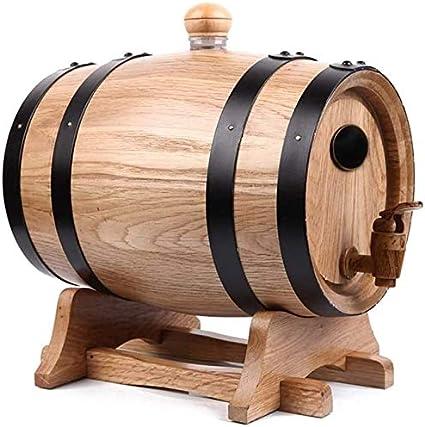 WYKDL Prima de Roble crianza en barrica - Barril del Whisky - Edad su Propio Whisky Bourbon Cerveza Vino Tequila Ron Caliente y Salsa Más barrica 5 litros (Color : Wood Color)