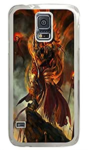 Samsung S5 case leather cover Red Warlord Art PC Transparent Custom Samsung Galaxy S5 Case Cover