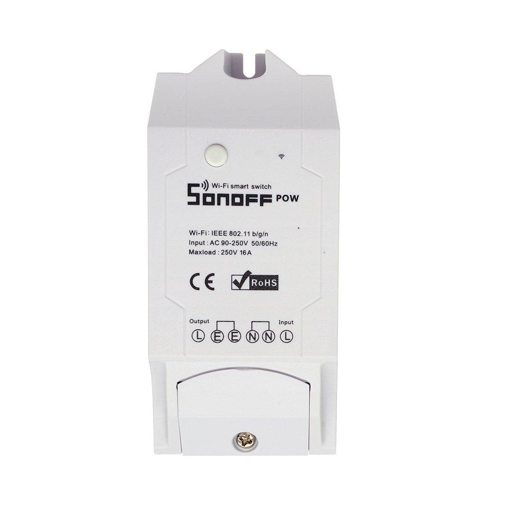 SONOFF POW 16A 3500W DIY WIFI Wireless APP Remote Control Switch Socket Power Monitor Current Tester AC 90-250V