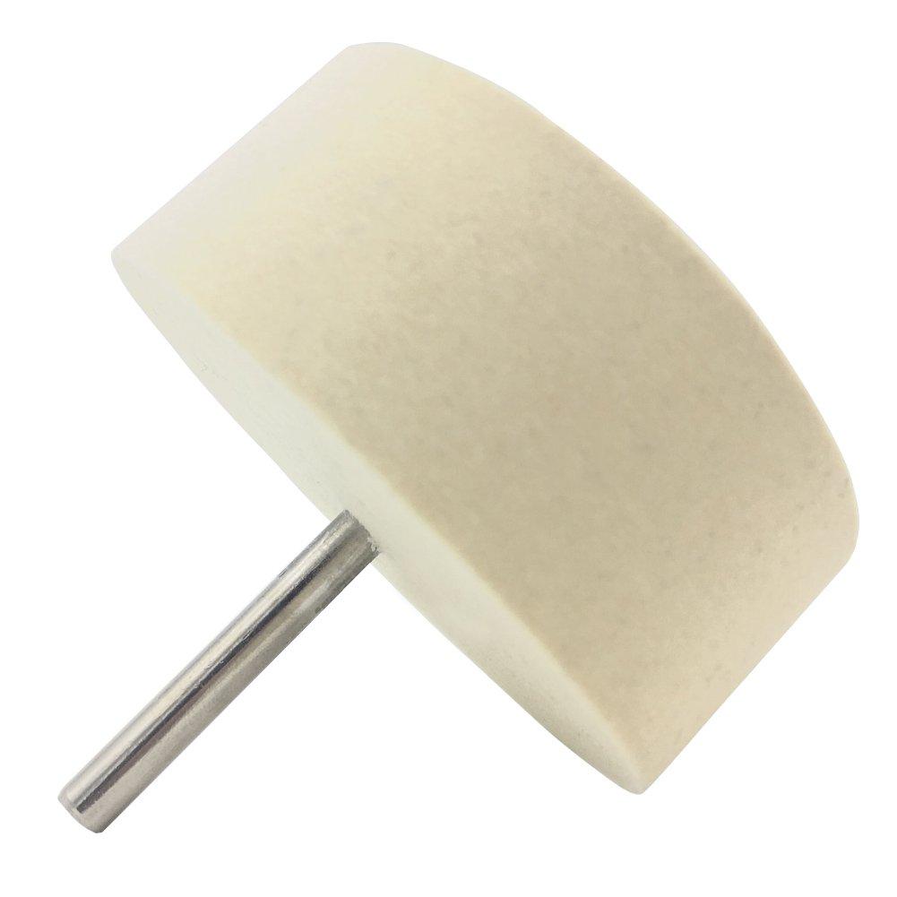 HYCC 75mm feltro di lucidatura della rotella per l'uso con cerio lucidatura polvere - 40mm di lunghezza del gambo
