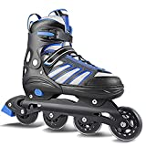 Hikole Inline Skates for Adult Men Women, Adjustable Size Roller Skates, Boy Fitness Breathable Switchable Roller Inline Skates for Beginner-Intermediate