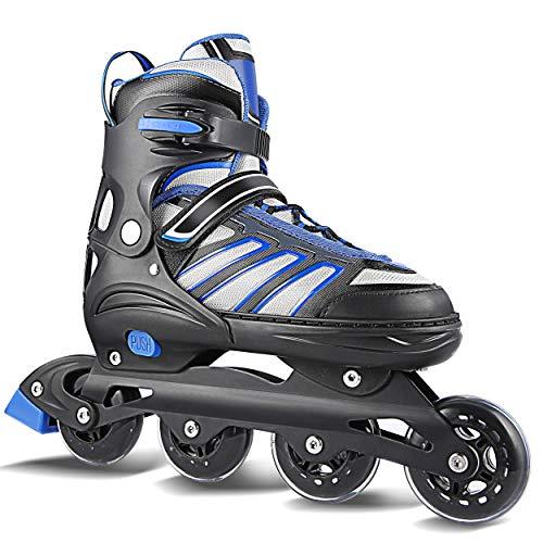Hikole Inline Skates for Adult Men Women - Adjustable Size Roller Skates - Boy Fitness Breathable Switchable Roller Inline Skates for Beginner-Intermediate (Roller Skates Size Women 11 Adult)