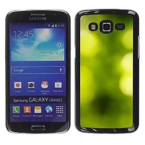 Be Good Phone Accessory // Dura Cáscara cubierta Protectora Caso Carcasa Funda de Protección para Samsung Galaxy Grand 2 SM-G7102 SM-G7105 // Nature Focus Summer Sun Blurry