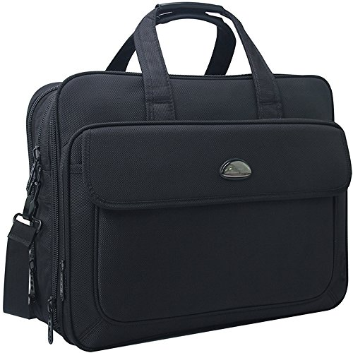 17 inch Laptop Bag, Travel Briefcase with Organizer, Expandable Large Hybrid Shoulder Bag, Water Resisatant Business Messenger Briefcases for Men Fits 17 Inch Laptop, Computer, Tablet