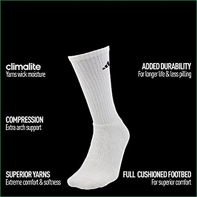 adidas Men's Athletic Crew Socks (6-Pack)
