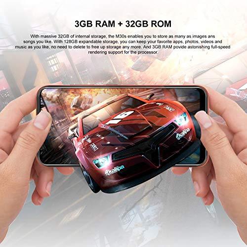 "Unlocked 4g LTE Smartphones M30s Android 9.0 6.3"" Screen 32GB+3GB Ram Dual Camera Global Version Unlocked Smartphones"