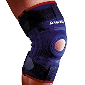 Vulkan Classic 3072 Stabilising Knee Support Brace with Aerotherm Breathable Lining and Compression Strap - Small by Vulkan