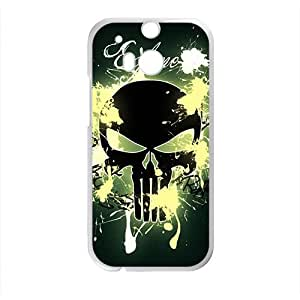 Creative Skull Pattern Custom Protective Hard Phone Cae For HTC One M8