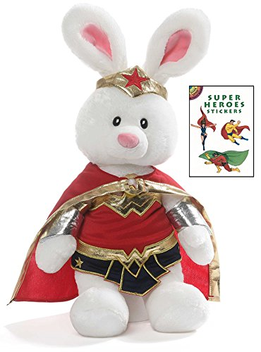 Wonder Woman Deluxe Dog Costumes (Gund Limited Edition Wonder Woman 15 in Plush Animal with Super Heroes Sticker Book)